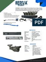 Kit 4 Camaras HD, AHD, Bullet