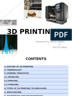 Ppt on 3d Printing