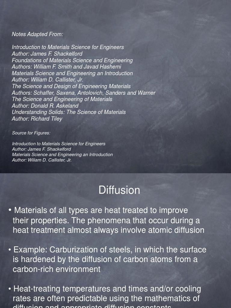 Diffusion-Lecture-Notes pdf | Diffusion | Heat Treating