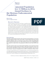 US Undocumented Population Drops Below 11 Million in 2014, with Continued Declines in the Mexican Undocumented Population
