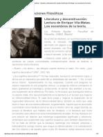 Aguilar. Literatura y Deconstrucción. Lectura de Vila-Matas
