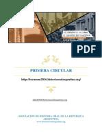 Primera Circular Tucuman 2016