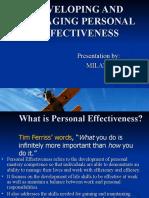 Milan Mehta -- Developing and Managing Personal Effectiveness