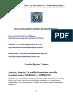 El Nino Santa Barbara County Emergency Contact Information