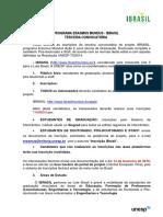 Edital Projetos Erasmus Mundus - IBrasil 3 Convocatória