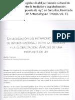 La Legislación del Patrimonio - Cottom Bolfy