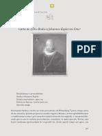 Carta de Tycho Brahe a Johannes Kepler Em Graz