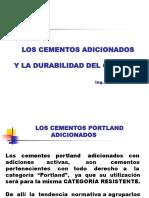 Los Cementos Adicionados y La Durabilidad Del Concreto