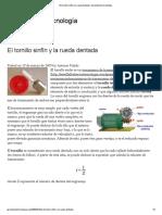 El Tornillo Sinfín y La Rueda Dentada _ Aprendemos Tecnología