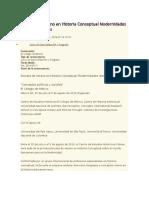 Escuela de Verano en Historia Conceptual Modernidades Iberoamericanas