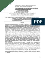 UNA EXPERIENCIA DE FORMACIÓN Y ACTUALIZACIÓN DE DOCENTES UNIVERSITARIOS BASADA EN MOODLE