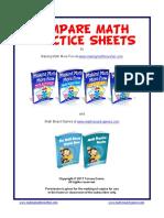 Compare Practice Puzzle Sheets