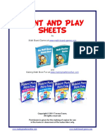 Print and Play Sheets