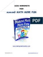 Puzzle Worksheets