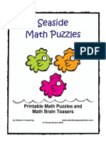 Seaside Math Puzzles