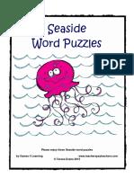 Seaside Word Puzzles