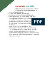 Informe Del 03 de Agosto 2015