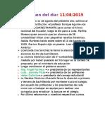 Informe Del 11 de Agosto de 2015