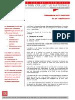CONVENTION  COLLECTIVE  NATIONALE COMMISSION MIXTE PARITAIRE  DU 21 JANVIER 2016