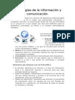 Tecnologias de La Informacion y Comunicacion
