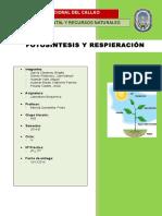 Fotosisntesis y Respiracion