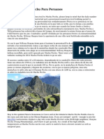 Cusco Y Machu Picchu Para Peruanos
