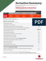AU11187 Vodafone Plan