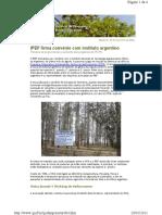 Newsletter - IPEF firma convênio com instituto argentino