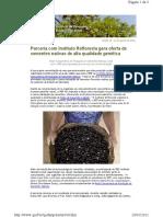 Newsletter - Parceria gera oferta de sementes nativas de alta qualidade genética