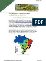 Newsletter - Novo programa estudará estresses ambientais
