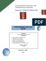 Contaminacion Del Agua Monografia