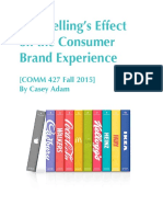 storytellings effect on the consumer brand experience