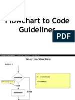 Flowchart to Code Guidelines - If- SWITCH Control Structure n Loop for-WHILE - DO