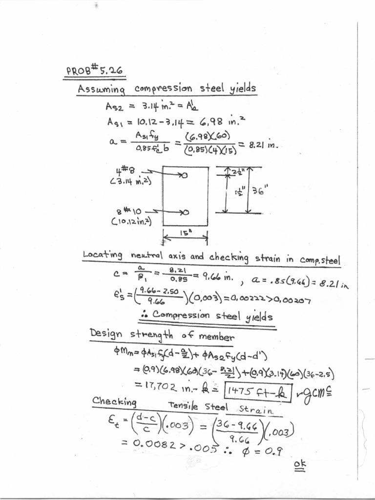 Design Of Reinforced Concrete Solution Manual Pdf