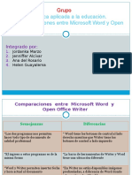 Comparaciones Entre Word y Writer