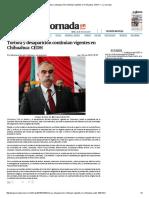 Tortura y Desaparición Continúan Vigentes en Chihuahua_ CEDH — La Jornada