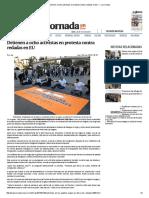 Detienen a Ocho Activistas en Protesta Contra Redadas en EU — La Jornada