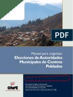 Manual Elecciones Autoridades Municipales Centros Poblados