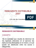 DONATARIAS REMANENTE DISTRIBUIBLE