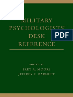 Military Psychologists Desk Reference-( Brett a Moore, Jeffrey E Barnett)