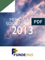 Memoria de Sostenibilidad 2013