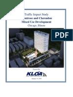 Montrose-Clarendon Traffic Study Jan. 14, 2016