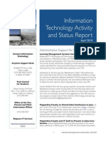 April 2010 IT Status Report