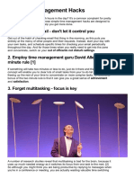 Ten Time Management Hacks