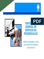 Ventilacion General en Edificios No Residenciales - España