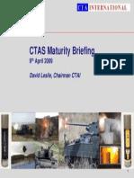 CTAS Maturity Briefing