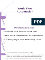 3. Work Flow Automation
