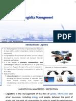 1. Logistic Management