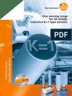 Ifm One Sensing Range for All Metals Inductive K= 1 Type Sensors