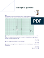 GCSE Level Optics Questions